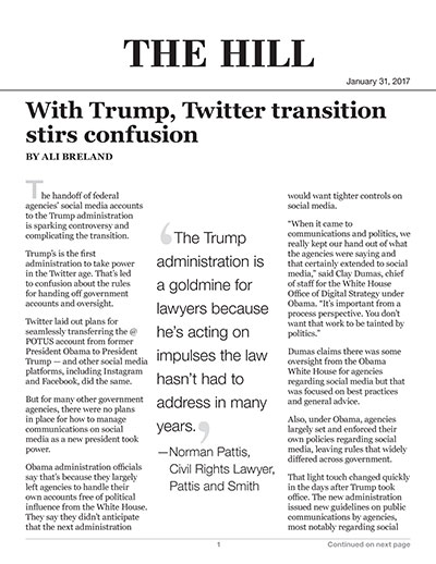 With Trump, Twitter transition stirs confusion