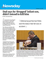 Dad says he 'dropped' infant son, didn't intend to kill him