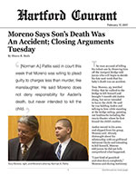 Moreno Says Son's Death Was An Accident; Closing Arguments Tuesday