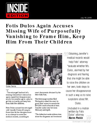 Fotis Dulos Again Accuses Missing Wife of Purposefully Vanishing to Frame Him, Keep Him From Their Children