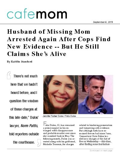 Husband of Missing Mom Arrested Again After Cops Find New Evidence -- But He Still Claims She's Alive