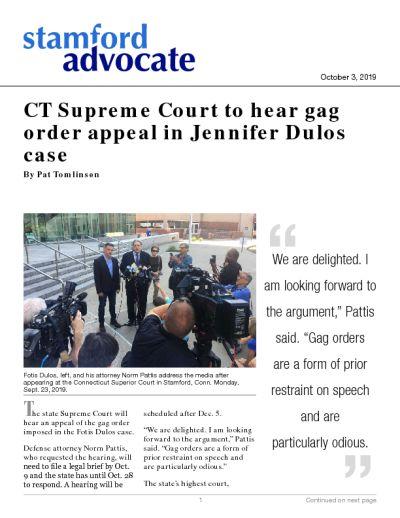 CT Supreme Court to hear gag order appeal in Jennifer Dulos case