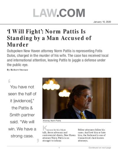 'I Will Fight': Norm Pattis Is Standing by a Man Accused of Murder