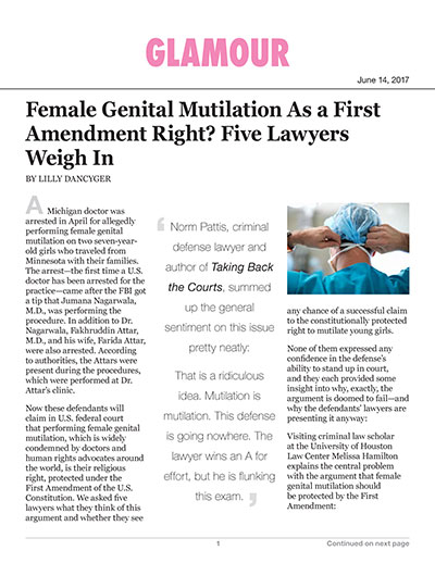 Female Genital Mutilation As a First Amendment Right? Five Lawyers Weigh In