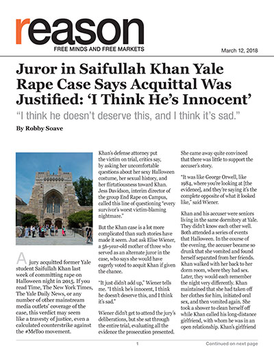 Juror in Saifullah Khan Yale Rape Case Says Acquittal Was Justified: 'I Think He's Innocent'