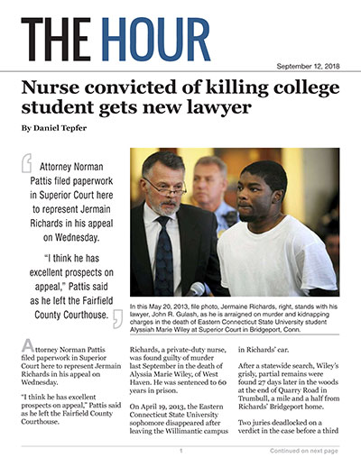 Nurse convicted of killing college student gets new lawyer