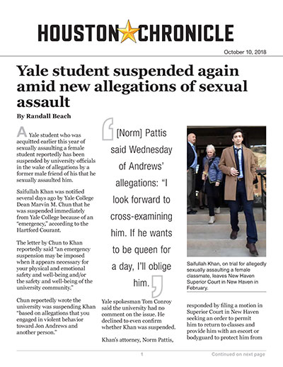 Yale student suspended again amid new allegations of sexual assault