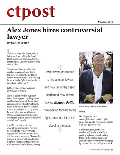 Alex Jones hires controversial lawyer