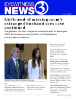 Girlfriend of missing mom's estranged husband sees case continued