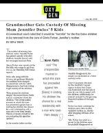 Grandmother Gets Custody Of Missing Mom Jennifer Dulos' 5 Kids