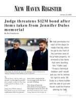 Judge threatens $12M bond after items taken from Jennifer Dulos memorial