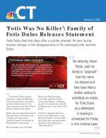 'Fotis Was No Killer': Family of Fotis Dulos Releases Statement
