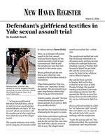 Defendant's girlfriend testifies in Yale sexual assault trial